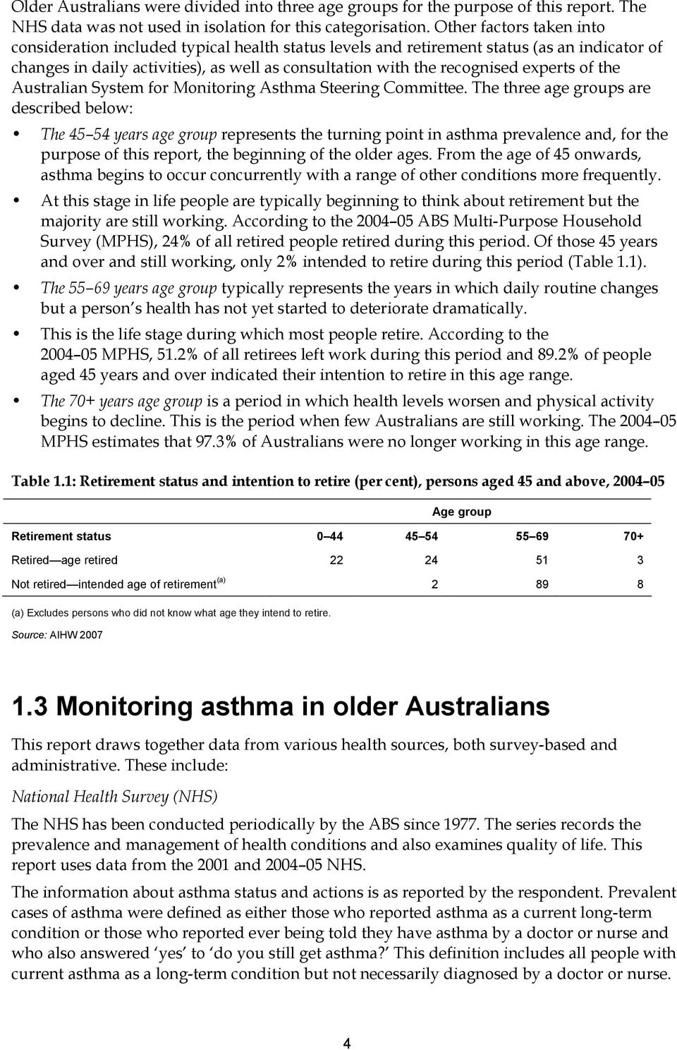 experts of the Australian System for Monitoring Asthma Steering Committee.