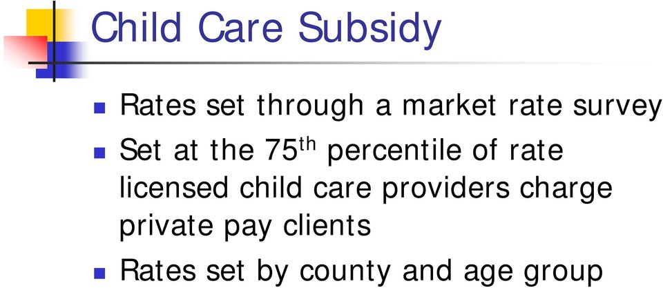 rate licensed child care providers charge