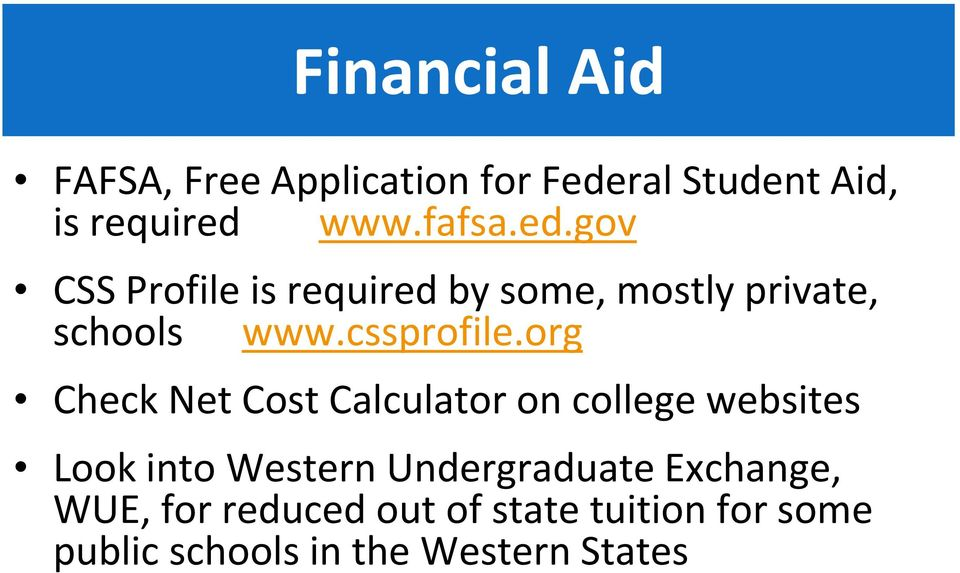 org Check Net Cost Calculator on college websites Look into Western Undergraduate