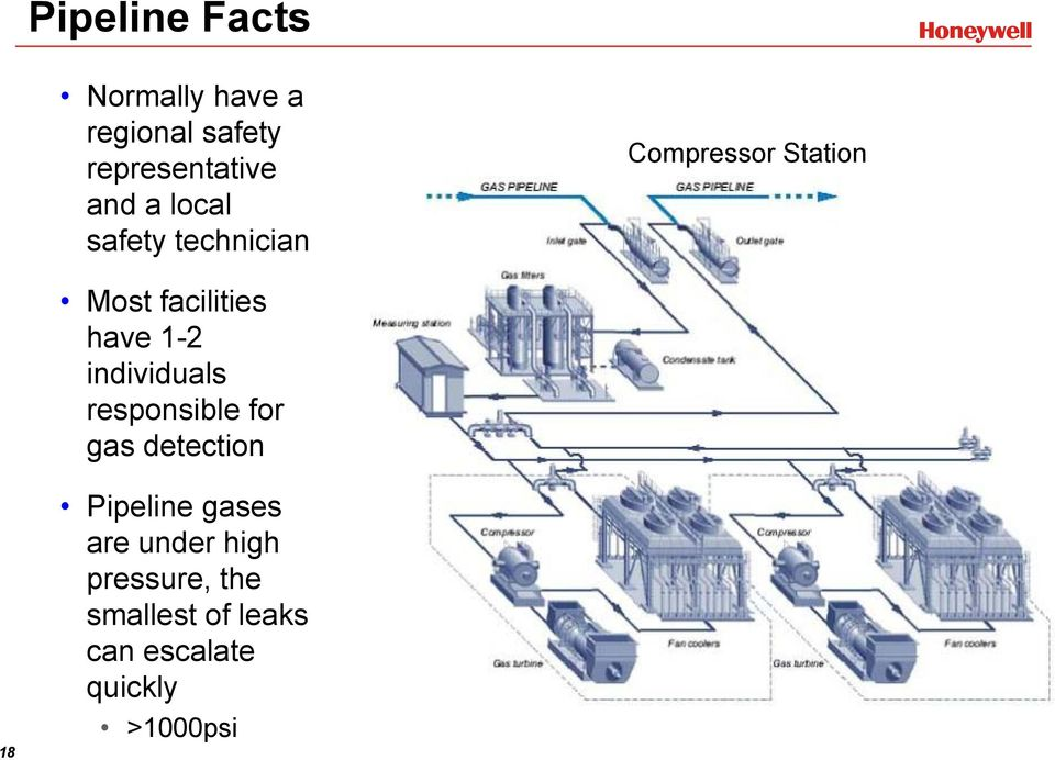 individuals responsible for gas detection 18 Pipeline gases are