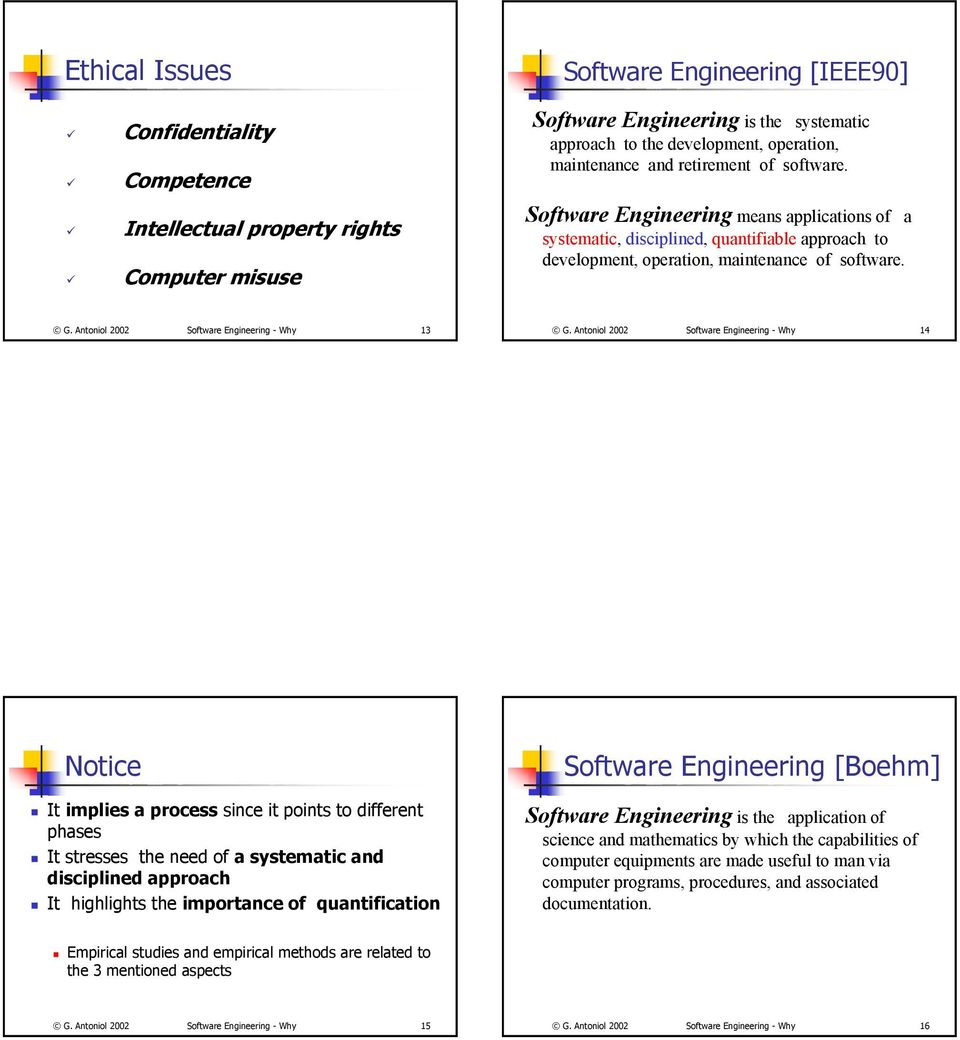 Antoniol 2002 Software Engineering - Why 13 G.