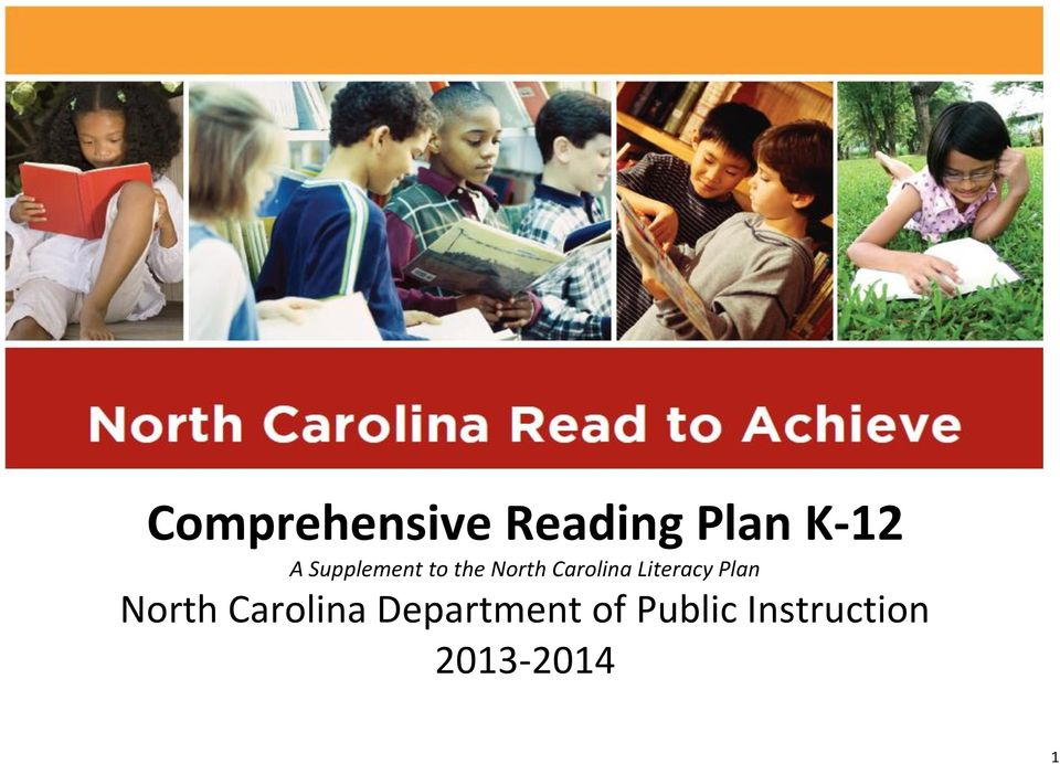 Literacy Plan North Carolina