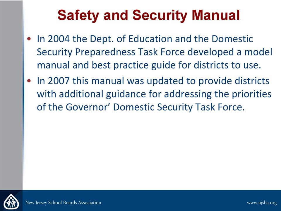 manual and best practice guide for districts to use.