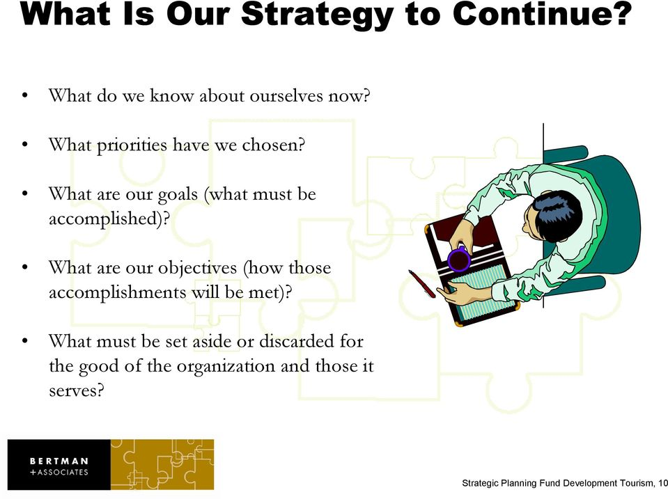 What are our objectives (how those accomplishments will be met)?