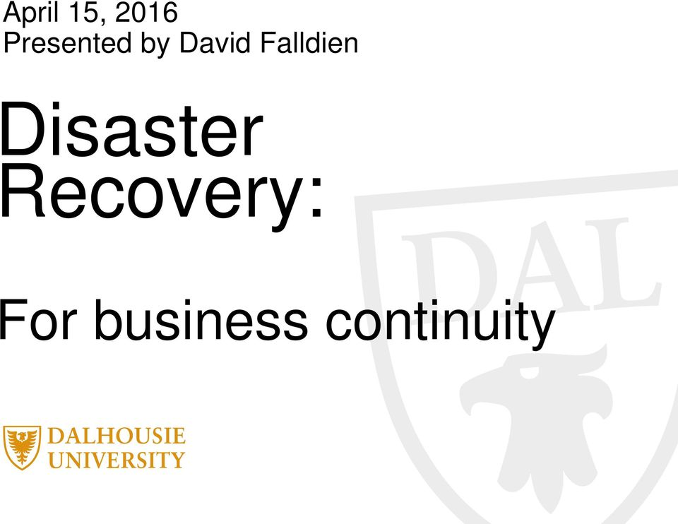 Falldien Disaster