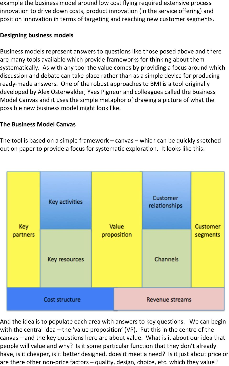 Designing business models Business models represent answers to questions like those posed above and there are many tools available which provide frameworks for thinking about them systematically.