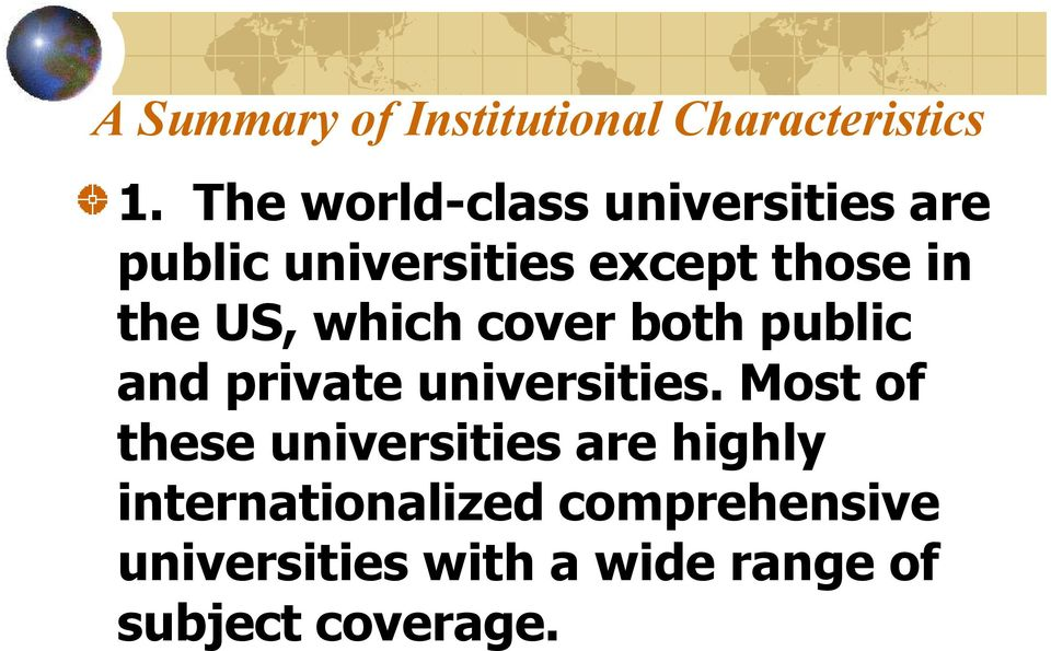 US, which cover both public and private universities.