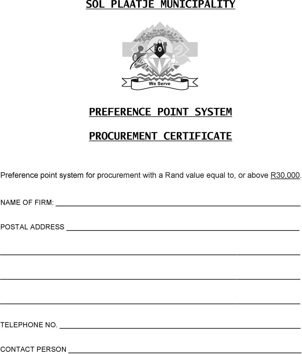 procurement with a Rand value equal to, or above