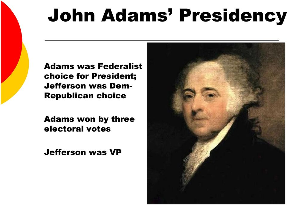 Jefferson was Dem- Republican choice