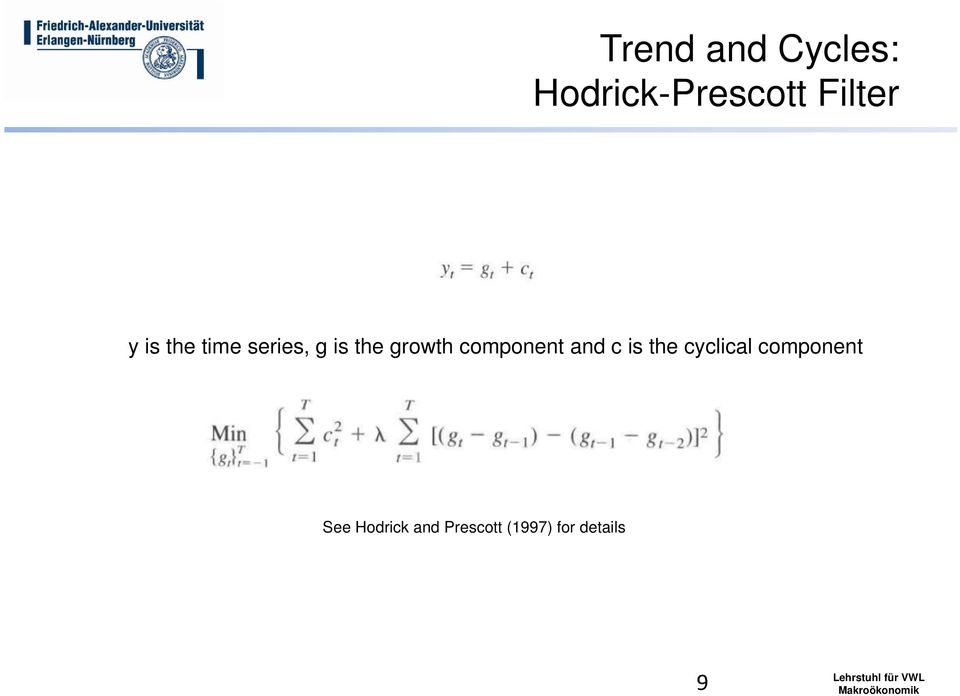 component and c is the cyclical component