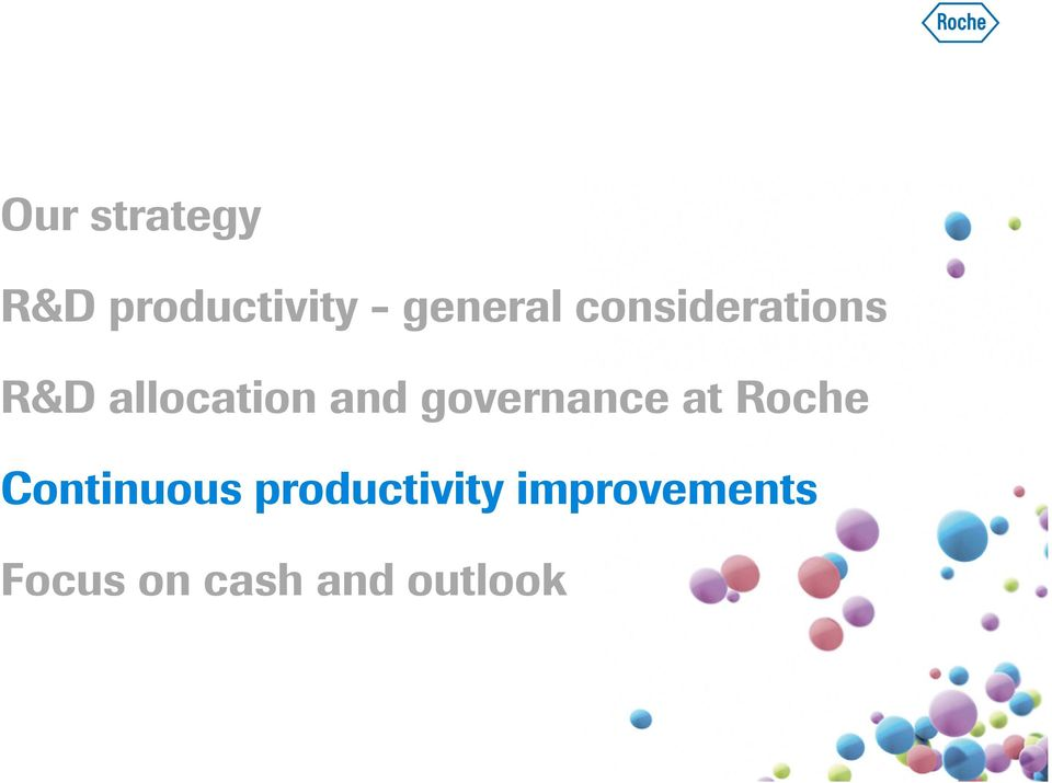 and governance at Roche Continuous