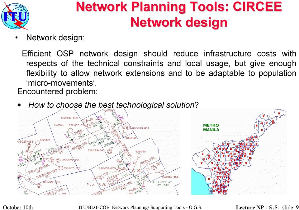 allow network extensions and to be adaptable to population micro-movements.