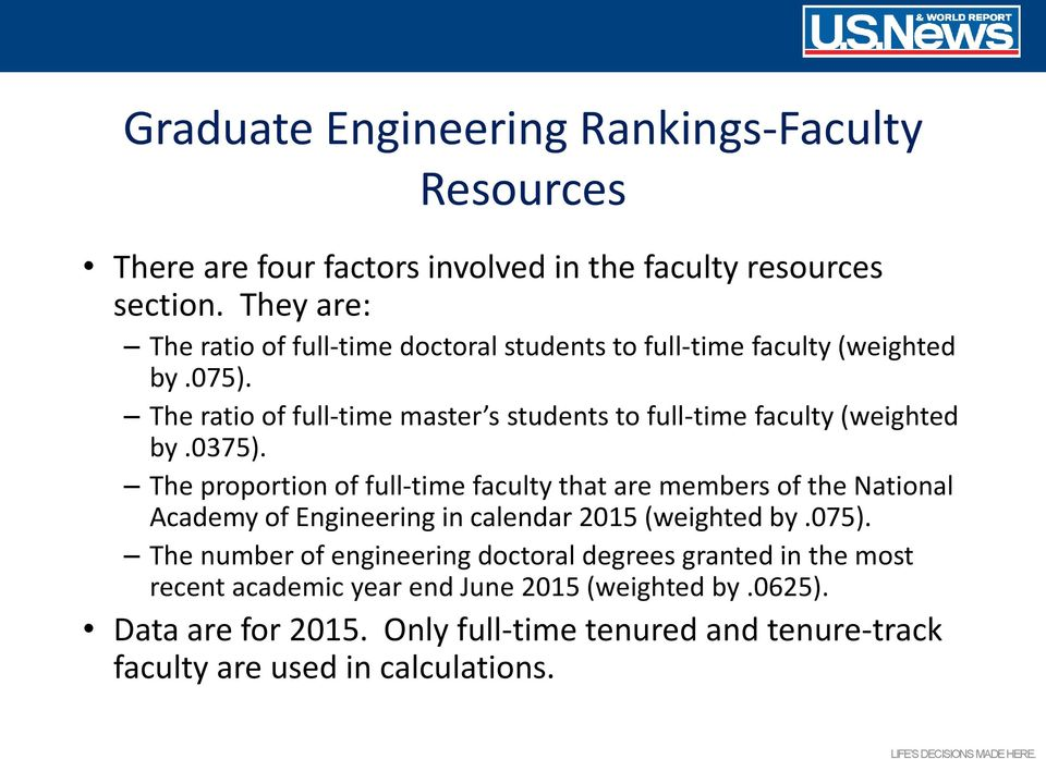 The ratio of full-time master s students to full-time faculty (weighted by.0375).