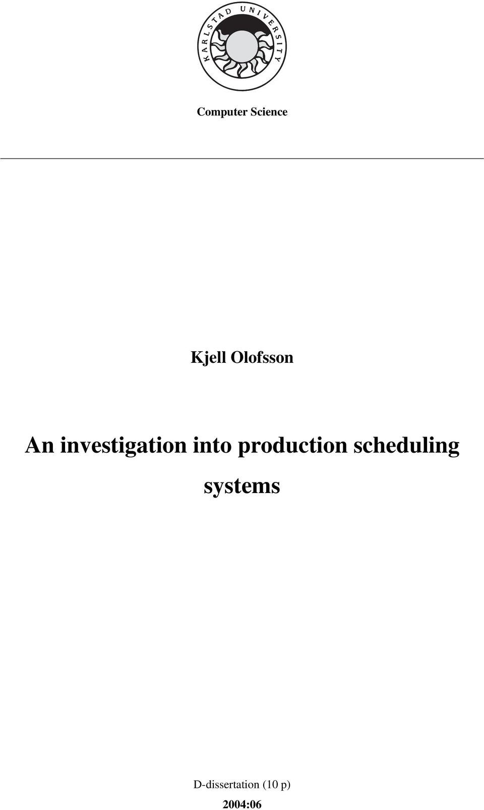 into production scheduling