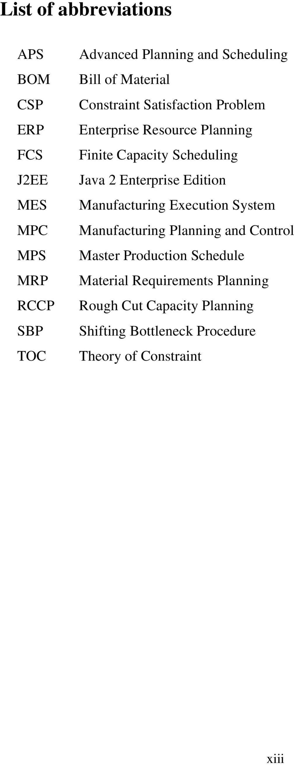 Enterprise Edition Manufacturing Execution System Manufacturing Planning and Control Master Production Schedule