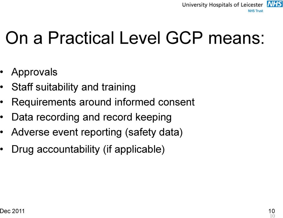 consent Data recording and record keeping Adverse event