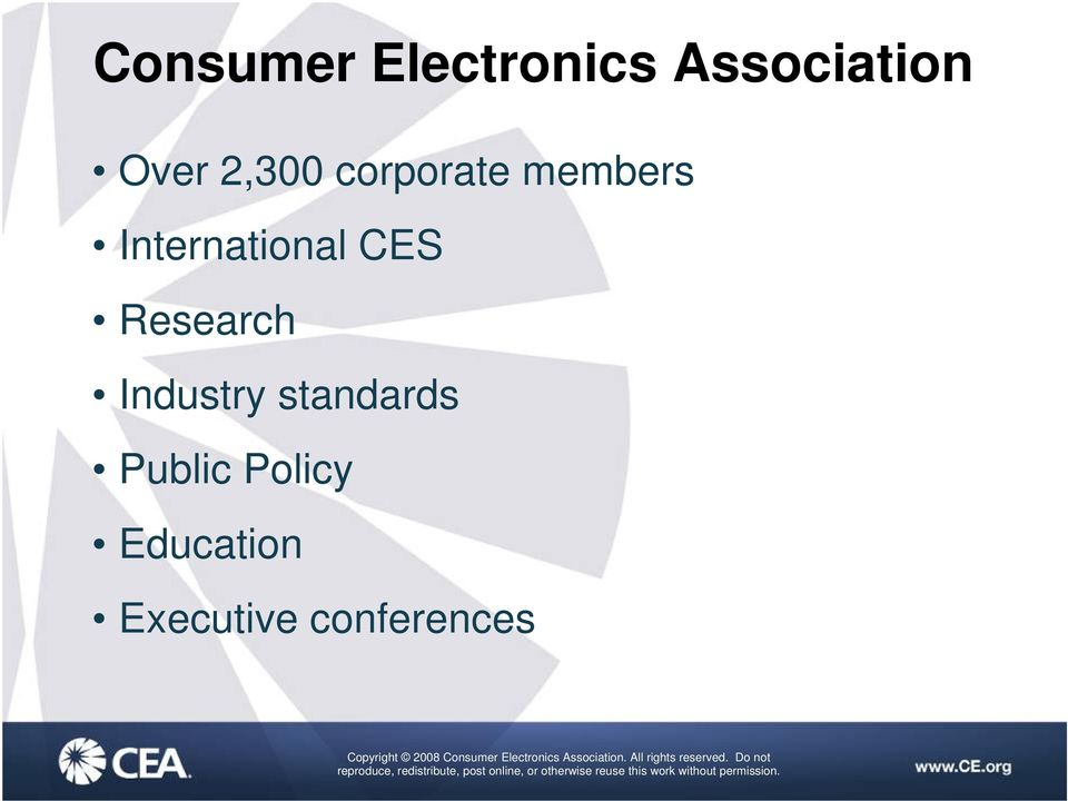 CES Research Industry standards Public
