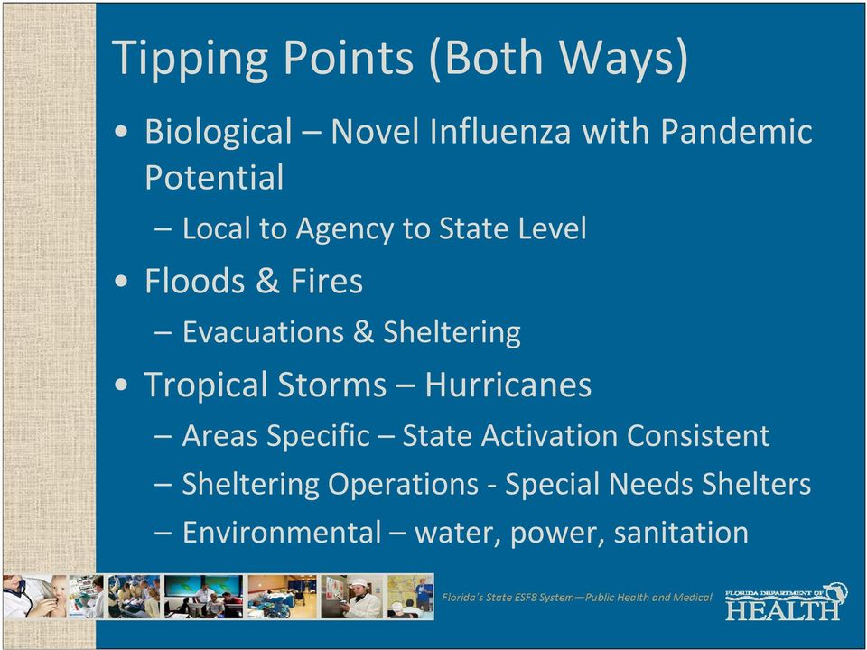 Sheltering Tropical Storms Hurricanes Areas Specific State Activation