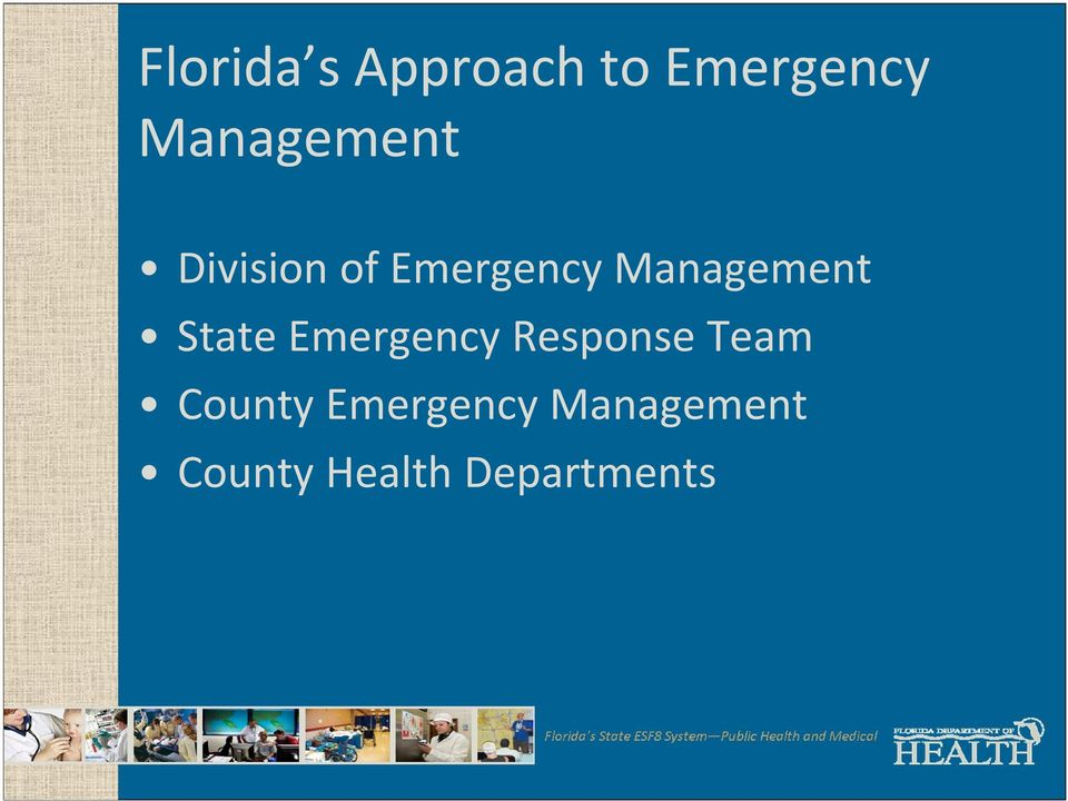 Management State Emergency Response