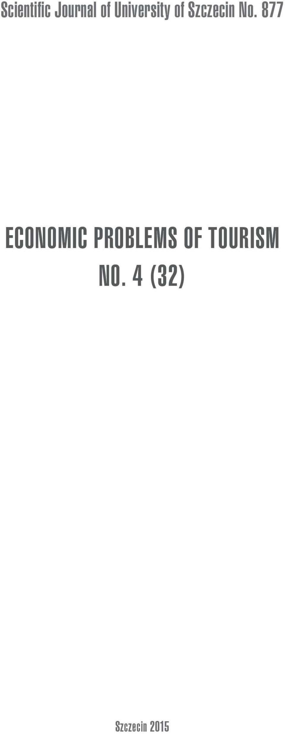 877 ECONOMIC PROBLEMS OF