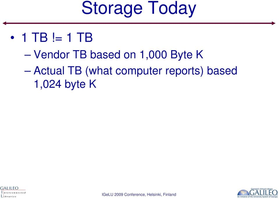 Byte K Actual TB (what