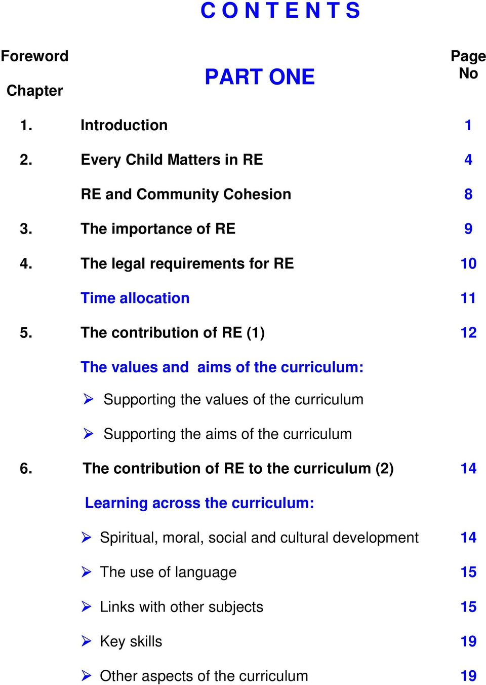 The contribution of RE (1) 10 11 12 The values and aims of the curriculum: Supporting the values of the curriculum Supporting the aims of the