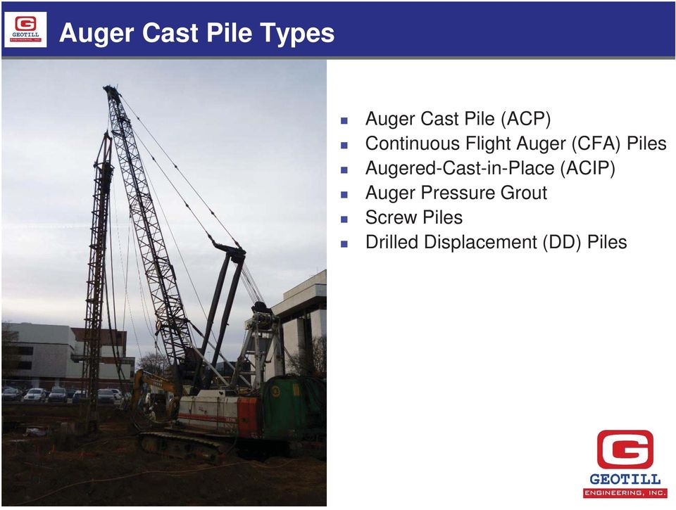 Augered-Cast-in-Place (ACIP) Auger Pressure