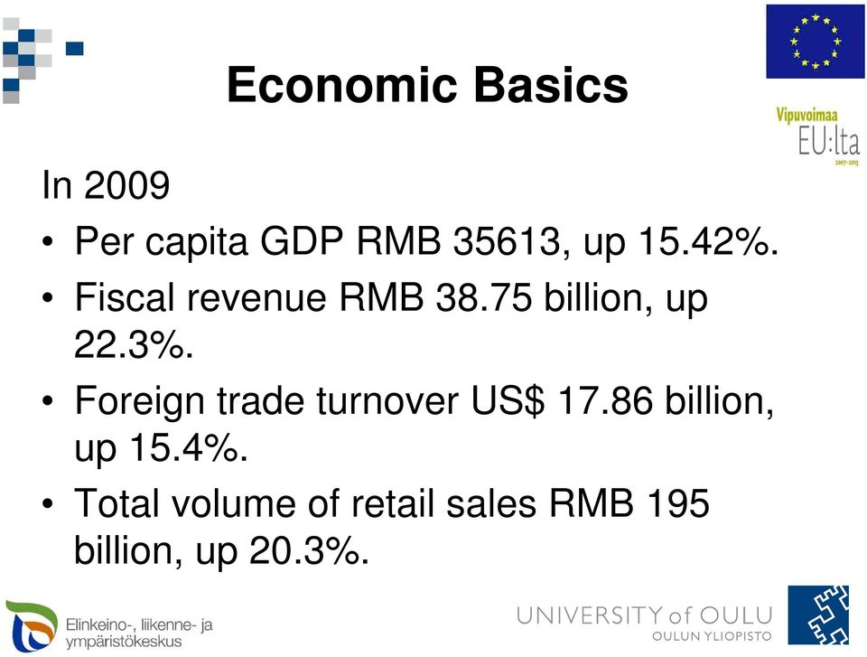 Foreign trade turnover US$ 17.86 billion, up 15.4%.