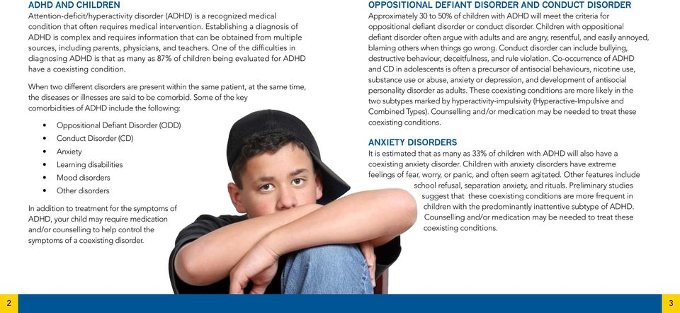 One of the difficulties in diagnosing ADHD is that as many as 87% of children being evaluated for ADHD have a coexisting condition.
