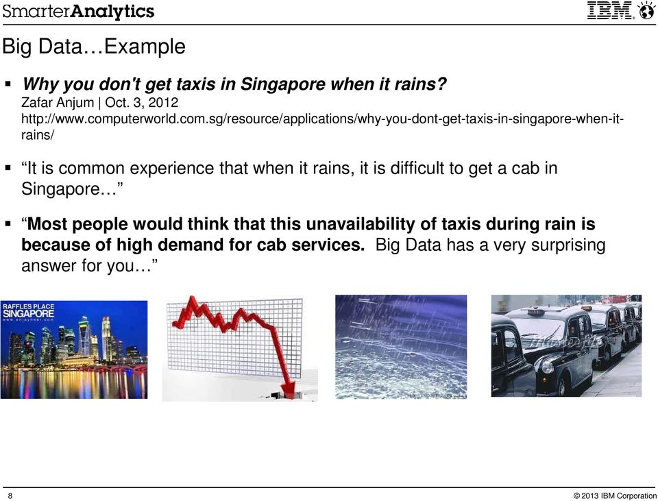 experience that when it rains, it is difficult to get a cab in Singapore Most people would think that this