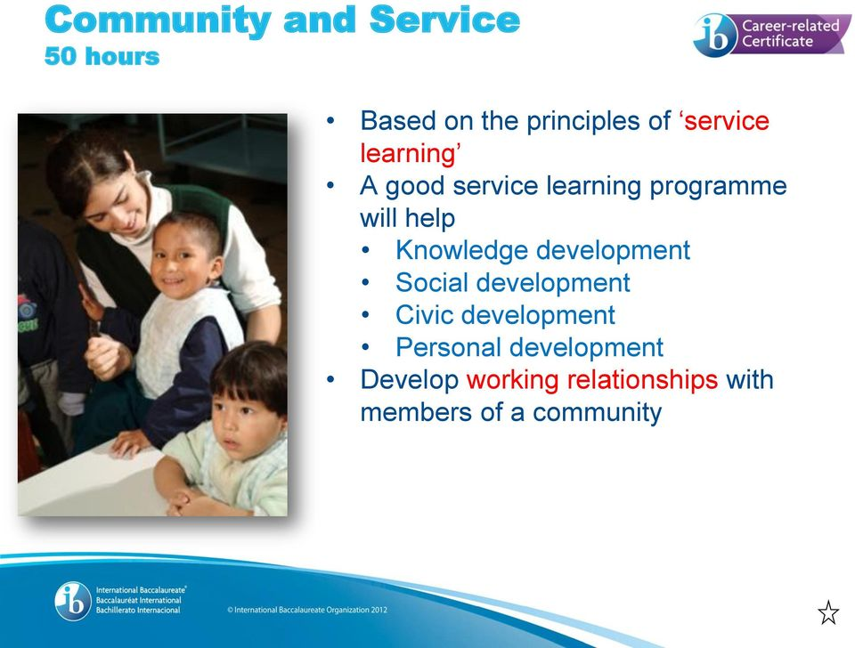 Knowledge development Social development Civic development
