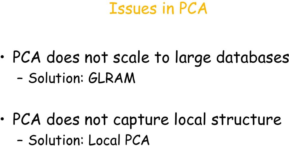 Solution: GLRAM PCA does not