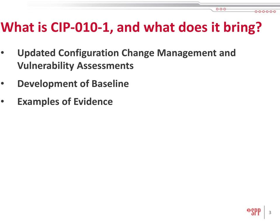 Updated Configuration Change Management