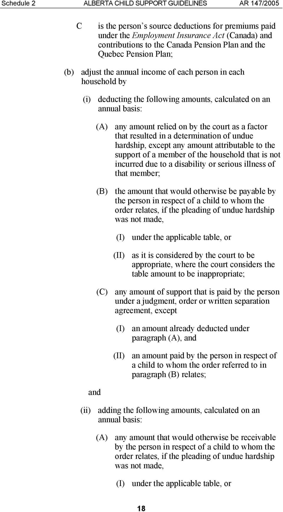 court as a factor that resulted in a determination of undue hardship, except any amount attributable to the support of a member of the household that is not incurred due to a disability or serious