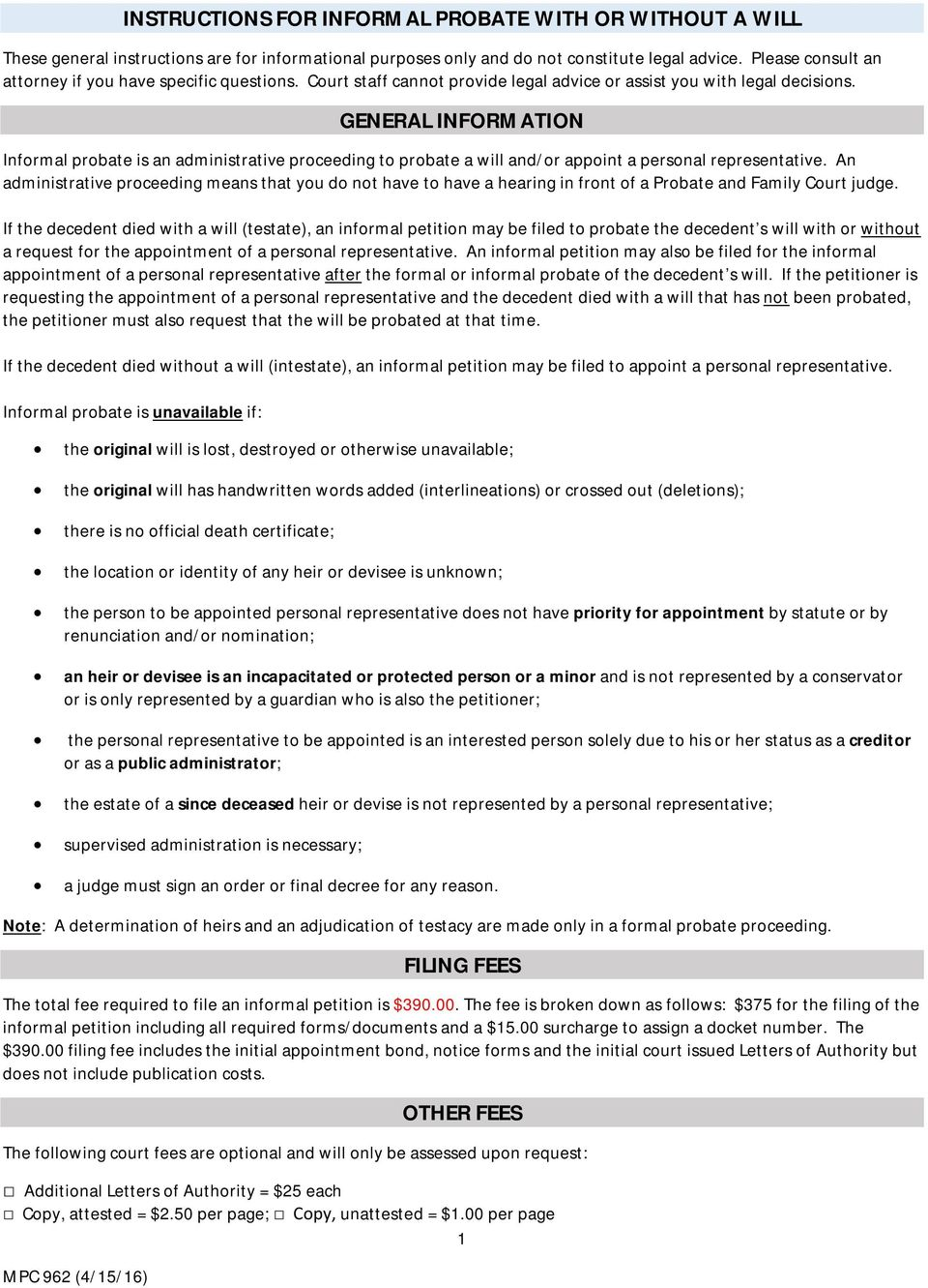 Letter Of Appointment Of Executor - Letter BestKitchenView CO