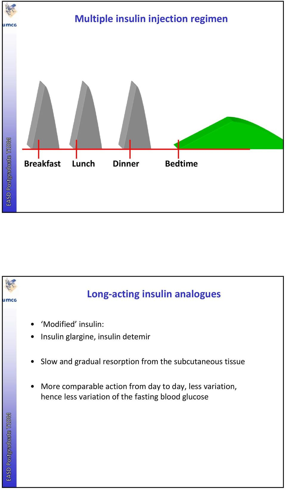 and gradual resorption from the subcutaneous tissue More comparable action