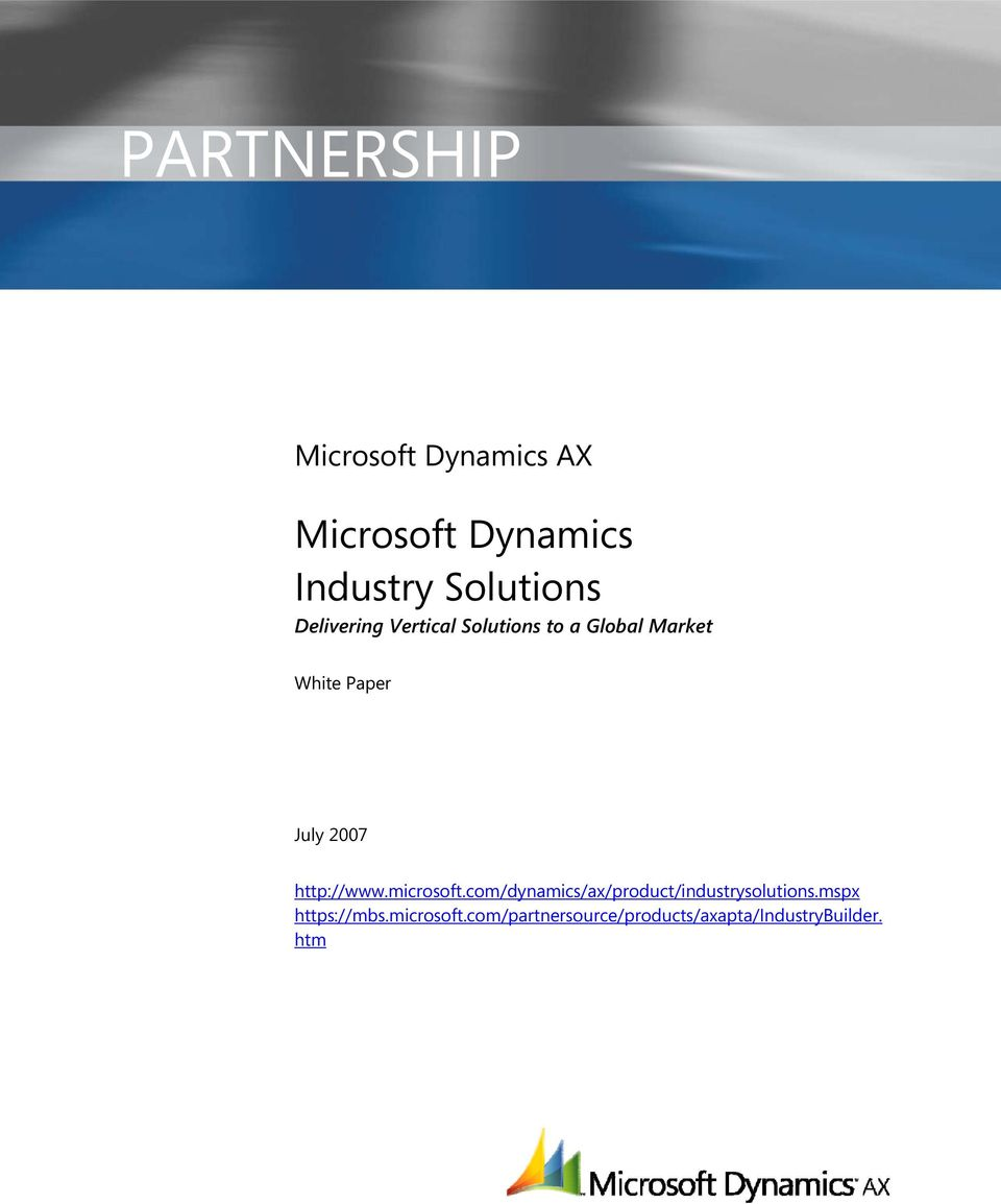 http://www.microsoft.com/dynamics/ax/product/industrysolutions.