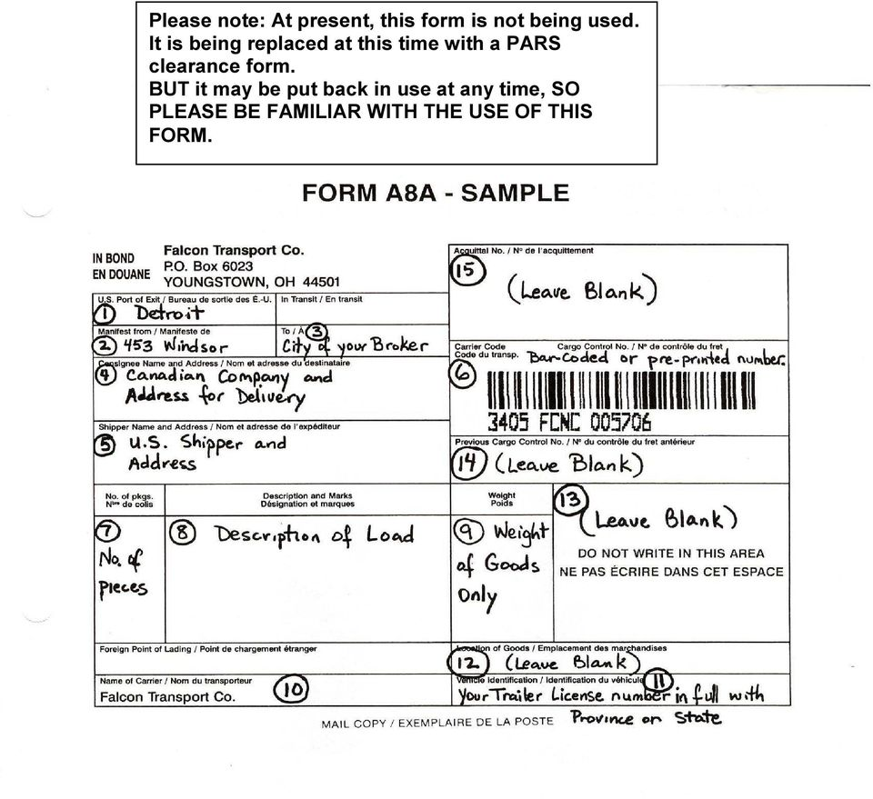 clearance form.