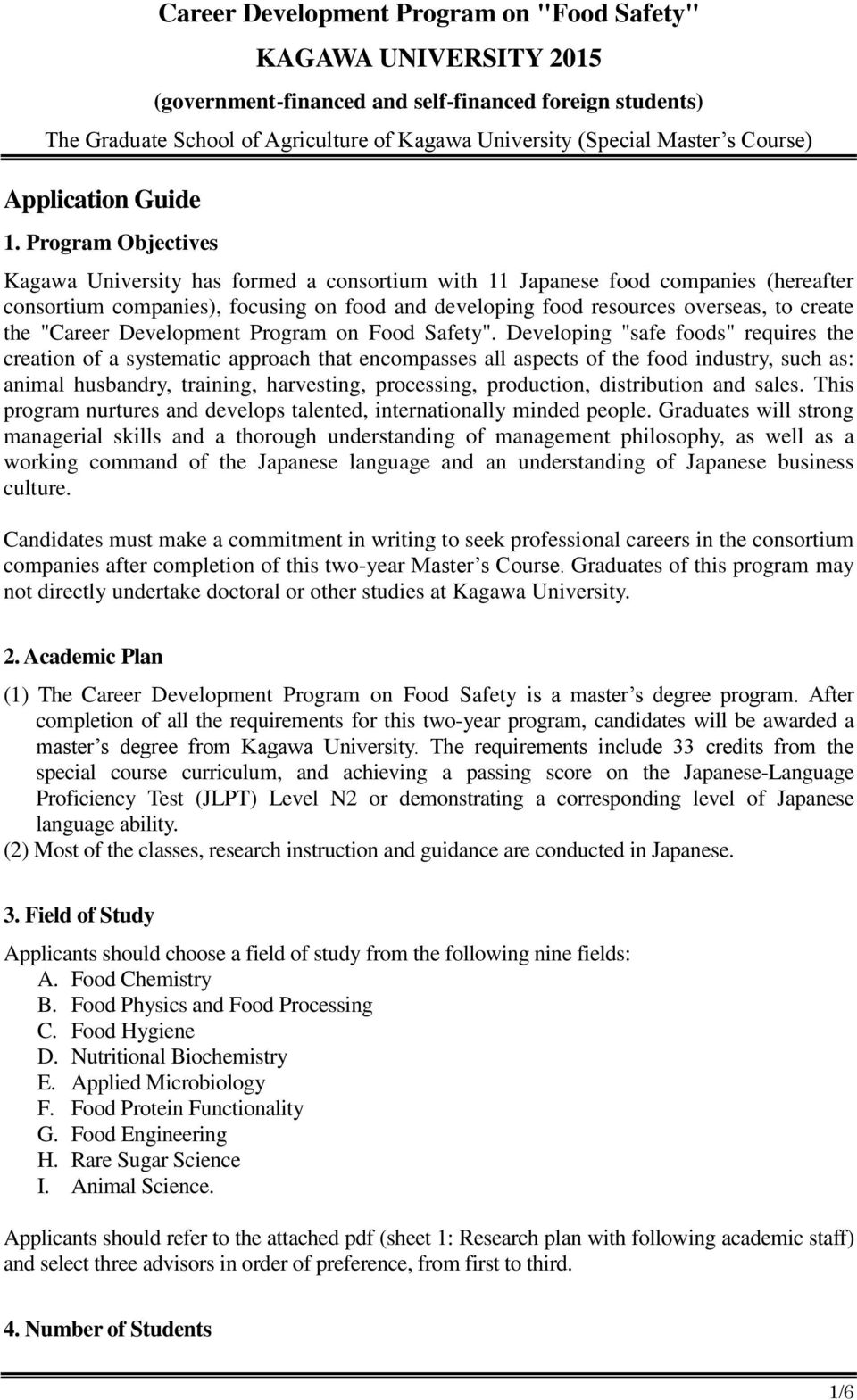 """Career Development Program on Food Safety""."