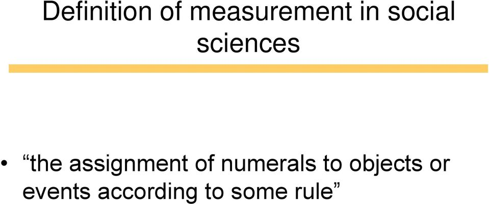 assignment of numerals to