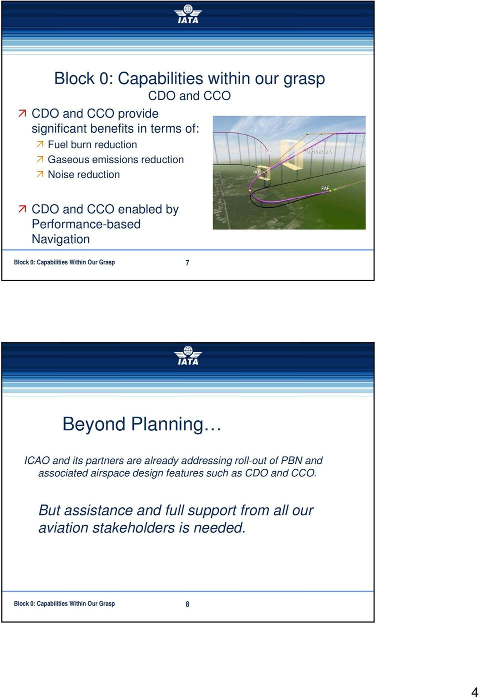 7 Beyond Planning ICAO and its partners are already addressing roll-out of PBN and associated airspace design