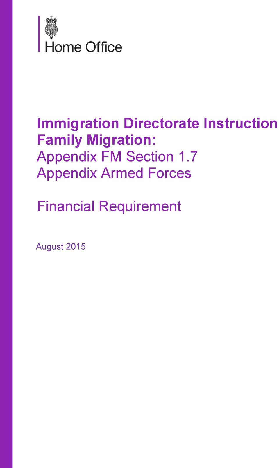 immigration directorate instruction fm 1.7