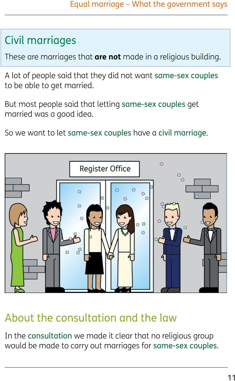 But most people said that letting same-sex couples get married was a good idea.