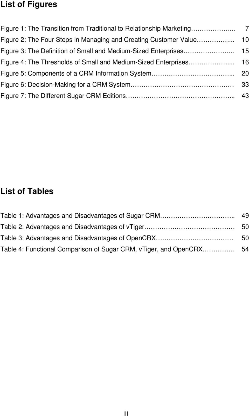 .. 16 Figure 5: Components of a CRM Information System... 20 Figure 6: Decision-Making for a CRM System 33 Figure 7: The Different Sugar CRM Editions.