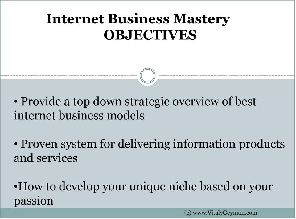 Proven system for delivering information products and
