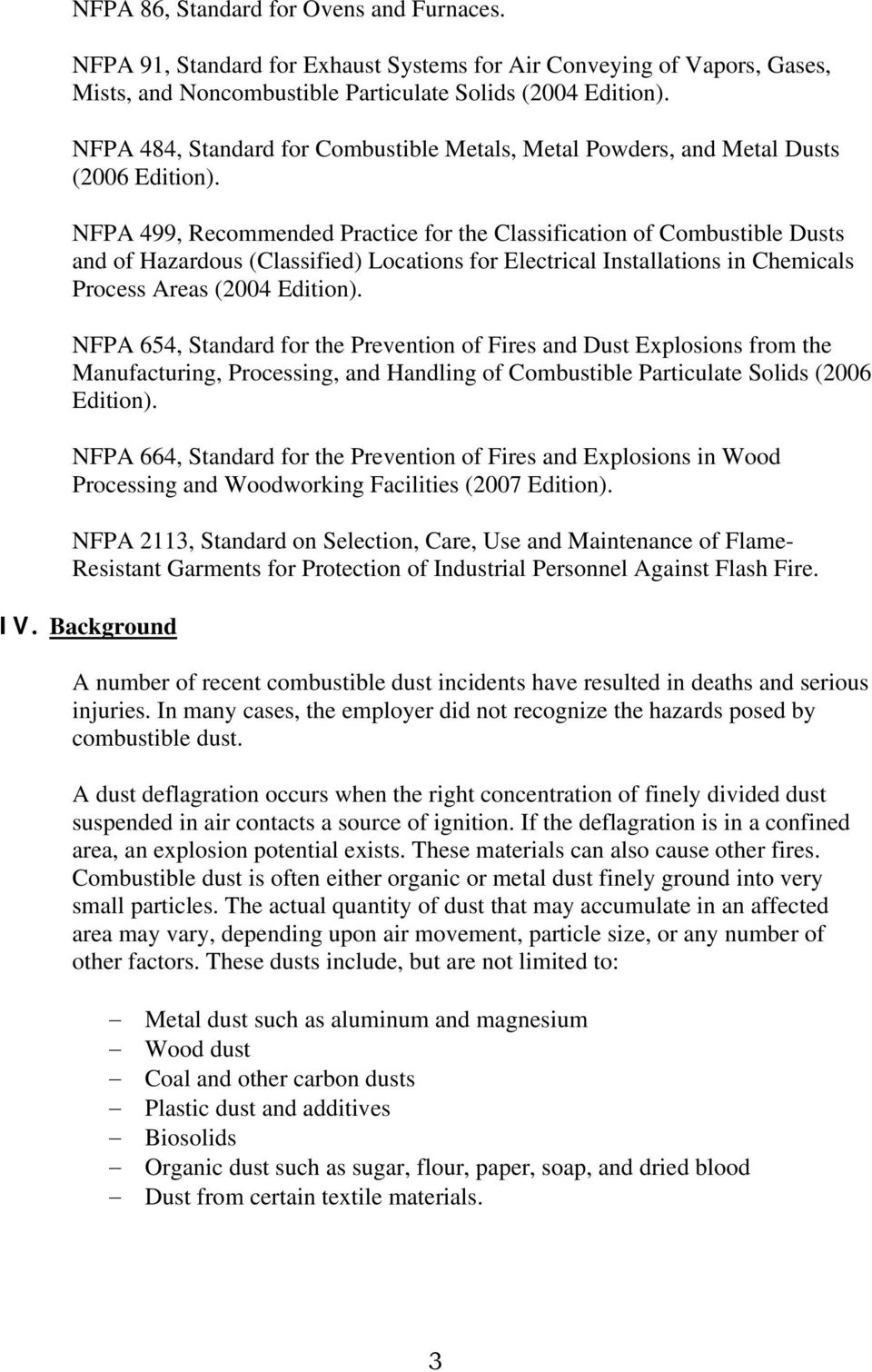 12 85 Enforcement and Consultation Guidance for Combustible Dust