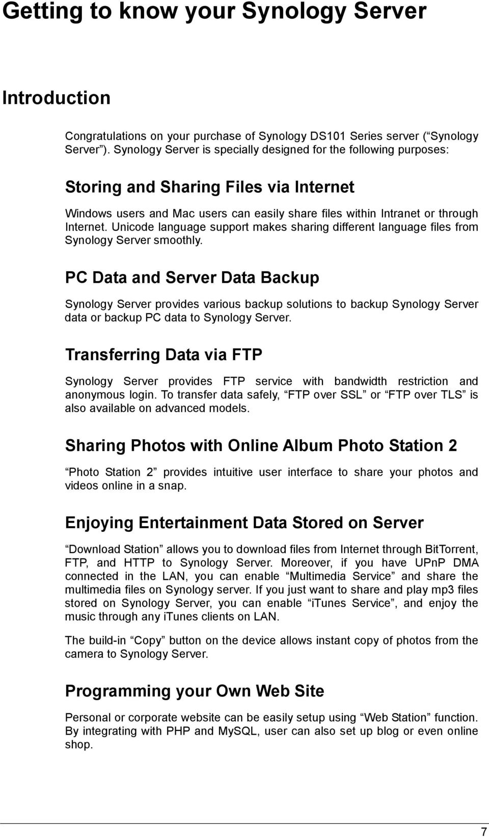 Synology DS101 Series - PDF