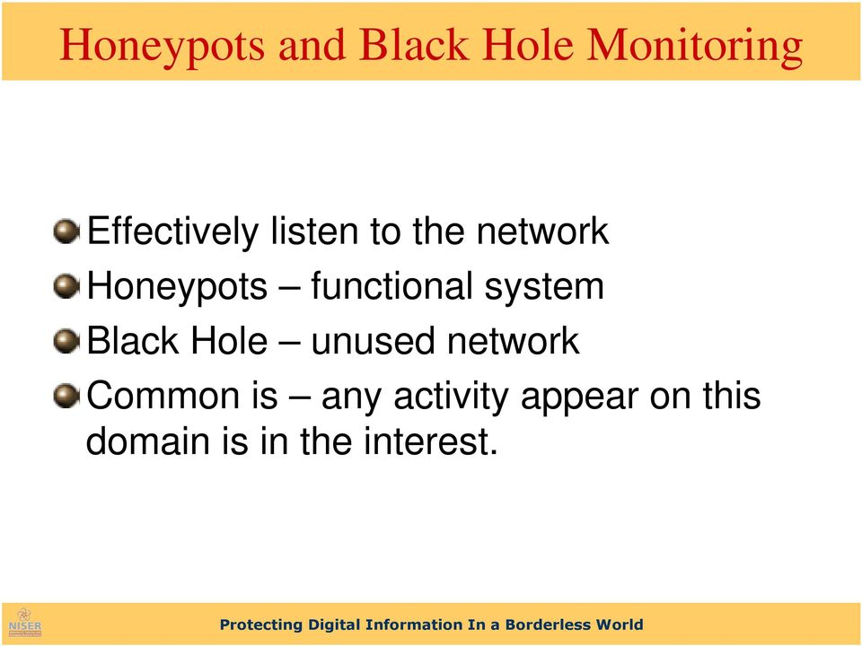 functional system Black Hole unused network