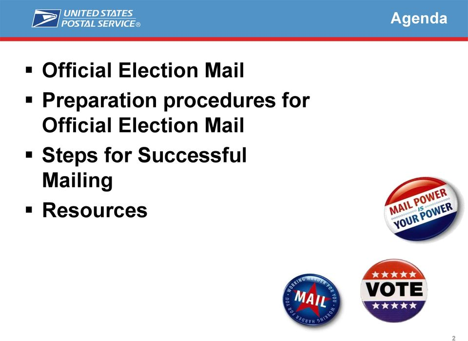 Official Election Mail Steps
