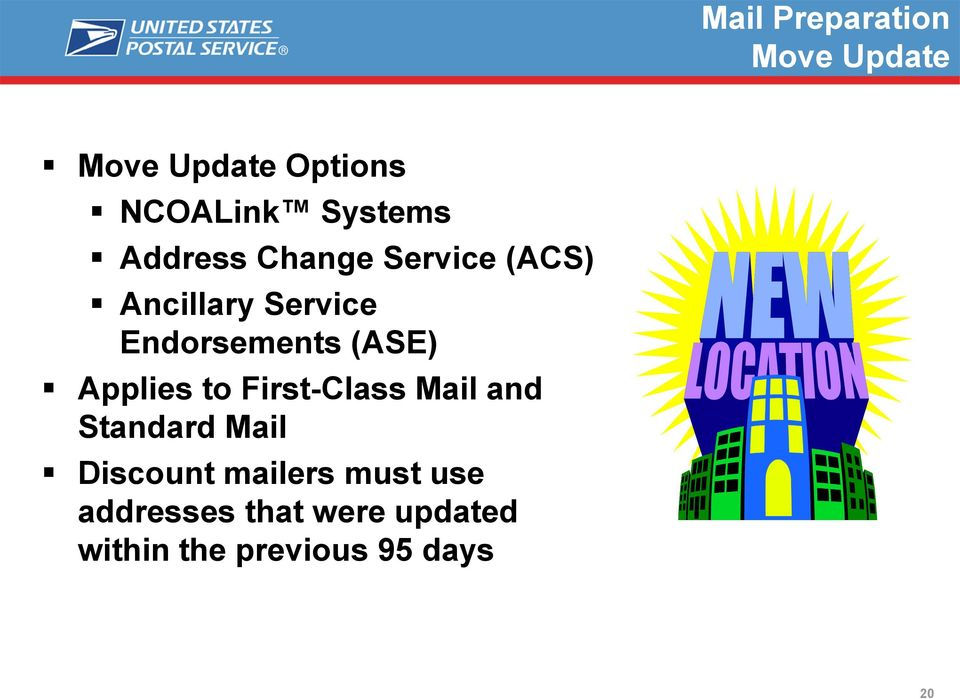 Applies to First-Class Mail and Standard Mail Discount mailers